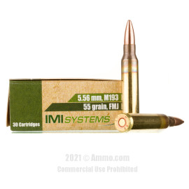 Image of Israeli Military Industries 5.56x45 Ammo - 1200 Rounds of 55 Grain FMJ Ammunition