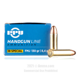 Image of Prvi Partizan 38 Special Ammo - 500 Rounds of 130 Grain FMJ Ammunition