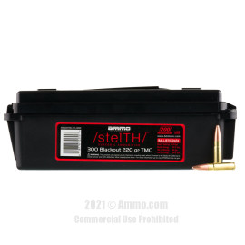 Image of Ammo Inc. stelTH 300 AAC Blackout Ammo - 200 Rounds of 220 Grain TMJ Ammunition