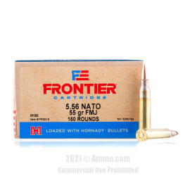 Image of Hornady Frontier 5.56x45 Ammo - 150 Rounds of 55 Grain FMJ M193 Ammunition
