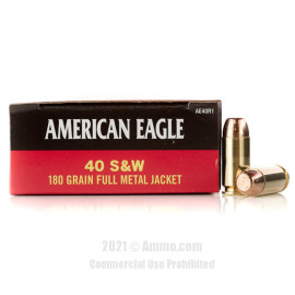 Image of 40 S&W - 180 gr FMJ - Federal American Eagle - 1000 Rounds