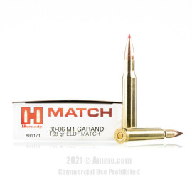 Image of Hornady Vintage Match 30-06 Ammo - 20 Rounds of 168 Grain ELD Match Ammunition