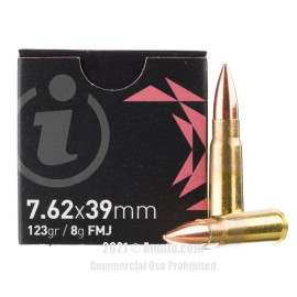 Image of Igman 7.62x39 Ammo - 720 Rounds of 123 Grain FMJ Ammunition