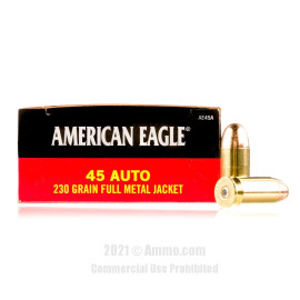 Image of Federal 45 Auto Ammo - 50 Rounds of 230 Grain FMJ Ammunition