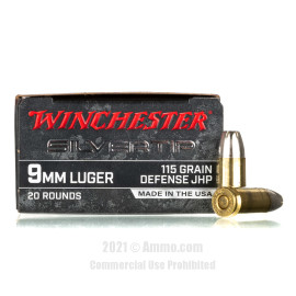 Image of Winchester Silvertip 9mm Ammo - 20 Rounds of 115 Grain JHP Ammunition