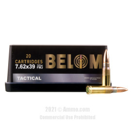Image of Belom 7.62x39 Ammo - 480 Rounds of 123 Grain FMJ Ammunition