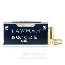 Image of Speer 40 cal Ammo - 50 Rounds of 180 Grain TMJ Ammunition