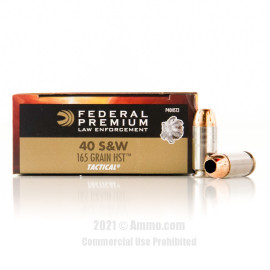 Image of Federal 40 cal Ammo - 50 Rounds of 165 Grain HST JHP Ammunition