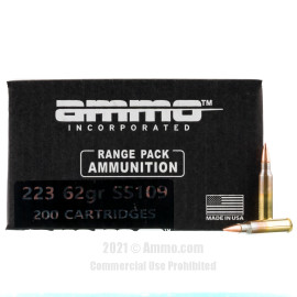 Image of Ammo Inc. 223 Rem Ammo - 200 Rounds of 62 Grain FMJ SS109 Ammunition