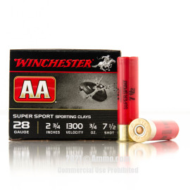 Image For 25 Rounds Of 3/4 oz. #7-1/2 Shot 28 Gauge Winchester Ammunition