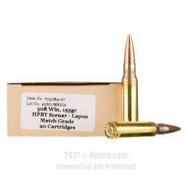 Image of Red Mountain Arsenal 308 Win Ammo - 20 Rounds of 155 Grain OTM Ammunition