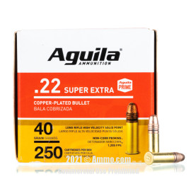 Image of Aguila 22 LR Ammo - 250 Rounds of 40 Grain CPRN Ammunition