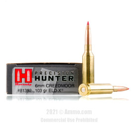 Image of Hornady Precision Hunter 6mm Creedmoor Ammo - 20 Rounds of 103 Grain ELD-X Ammunition