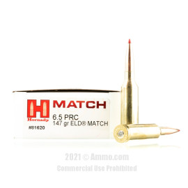 Image of Hornady 6.5 PRC Ammo - 20 Rounds of 147 Grain ELD Match Ammunition