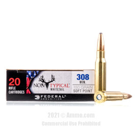 Image For 20 Rounds Of 150 Grain SP Boxer Brass 308 Win Federal Ammunition