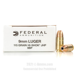 Image of Federal 9mm Ammo - 1000 Rounds of 115 Grain JHP Ammunition