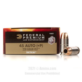 Image of Federal Law Enforcement HST 45 ACP +P Ammo - 50 Rounds of 230 Grain JHP Ammunition