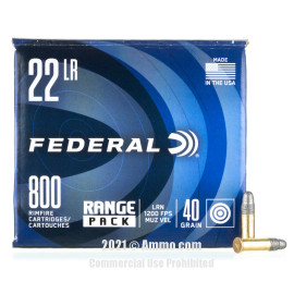 Image of Federal Champion 22 LR Ammo - 800 Rounds of 40 Grain LRN Ammunition