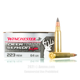 Image of Winchester Deer Season XP 223 Rem Ammo - 20 Rounds of 64 Grain Extreme Point Ammunition