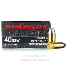 Image of Winchester Silvertip 40 S&W Ammo - 20 Rounds of 155 Grain JHP Ammunition