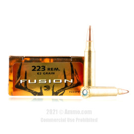 Image of Federal 223 Rem Ammo - 20 Rounds of 62 Grain Fusion Ammunition