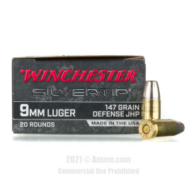 Image of Winchester Silvertip 9mm Ammo - 20 Rounds of 147 Grain JHP Ammunition