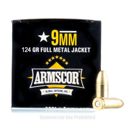Image of Armscor 9mm Ammo - 1200 Rounds of 124 Grain FMJ Ammunition