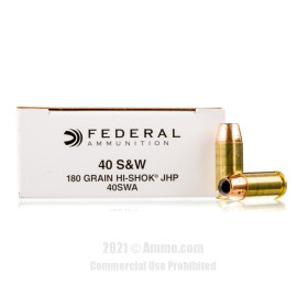 Image of Federal Classic 40 cal Ammo - 1000 Rounds of 180 Grain JHP Ammunition