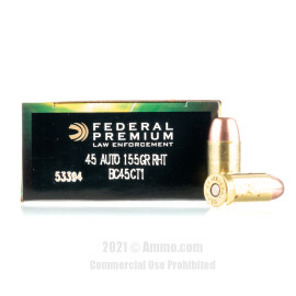 Image For 50 Rounds Of 155 Grain Frang. Boxer Brass 45 Auto Federal Ammunition