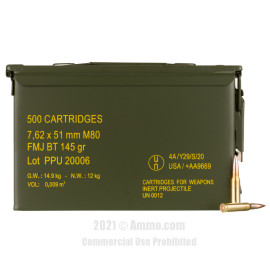 Image of Prvi Partizan 7.62x51 Ammo - 500 Rounds of 145 Grain FMJBT Ammunition in Ammo Can