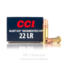 Image of CCI 22 LR Ammo - 50 Rounds of 40 Grain Copper-Plated Segmented Hollow-Point (CPSHP) Ammunition
