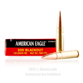 Image of Federal American Eagle 300 Blackout Ammo - 20 Rounds of 150 Grain FMJ Ammunition