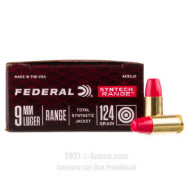 Image of Federal Syntech 9mm Ammo - 50 Rounds of 124 Grain Total Synthetic Jacket FN Ammunition