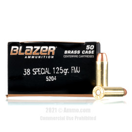 Image of Blazer 38 Special Ammo - 50 Rounds of 125 Grain FMJ Ammunition