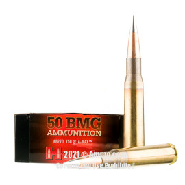 Image of Hornady 50 BMG Ammo - 10 Rounds of 750 Grain A-MAX Match Ammunition