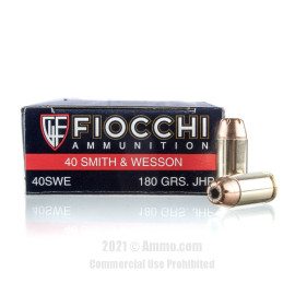 Image of Fiocchi 40 cal Ammo - 50 Rounds of 180 Grain JHP Ammunition