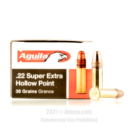 Image For 50 Rounds Of 38 Grain CPHP Rimfire Brass 22 LR Aguila Ammunition