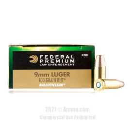 Image of Federal Ballisticlean 9mm Ammo - 50 Rounds of 100 Grain RHT Frangible Ammunition