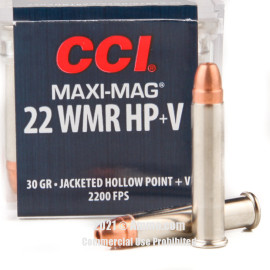Image of CCI 22 WMR Ammo - 50 Rounds of 30 Grain JHP Ammunition
