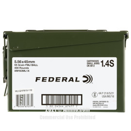 Image of Federal American Eagle 5.56x45 Ammo - 400 Rounds of 55 Grain FMJ Ammunition in Ammo Can