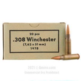 Image of **Corrosive** Sellier & Bellot Military Surplus 1970's Production 308 Win Ammo - 500 Rounds of 147 Grain FMJ Ammunition