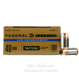 Image of Federal Law Enforcement HST 40 S&W Ammo - 50 Rounds of 180 Grain JHP Ammunition