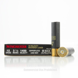 Image of Winchester Double-X 12 Gauge Ammo - 5 Rounds of #00 Buck Ammunition
