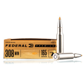Image For 20 Rounds Of 165 Grain Trophy Bonded Tip Boxer Brass 308 Win Federal Ammunition