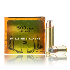 Image For 20 Rounds Of 325 Grain Fusion Boxer Brass 500 S&W Magnum Federal Ammunition