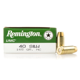 Image For 50 Rounds Of 165 Grain FMJ Boxer Brass 40 Cal Remington Ammunition