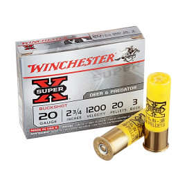 Image For 5 Rounds Of #3 Buck 20 Gauge Winchester Ammunition