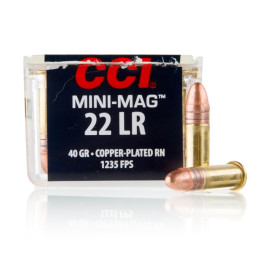 Image For 100 Rounds Of 40 Grain CPRN Rimfire Brass 22 LR CCI Ammunition