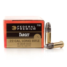 Image For 50 Rounds Of 40 Grain LS Rimfire Brass 22 LR Federal Ammunition