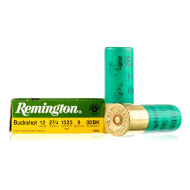 Image For 5 Rounds Of #00 Buck 12 Gauge Remington Ammunition